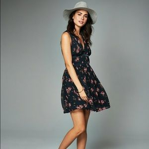 Abercrombie and Fitch blue floral chiffon dress